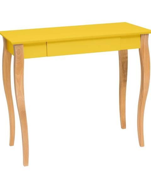 Ragaba Žltý písací stôl Ragaba Lillo,dĺžka 85cm