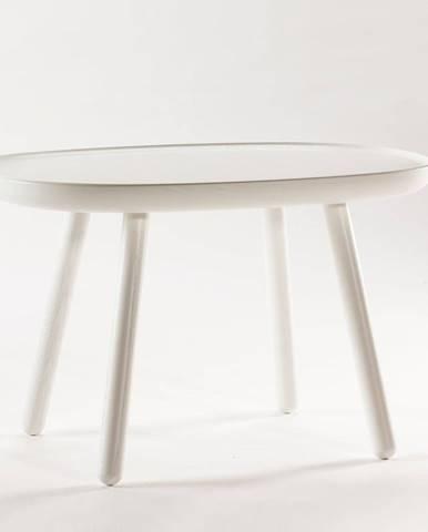 Biely odkladací stolík z masívu EMKO Naïve, 61 x 41 cm