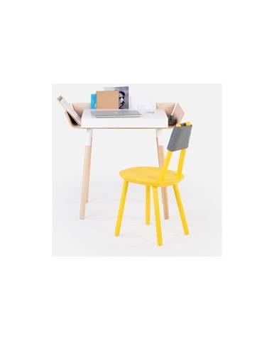 Biely písací stôl s 1 zásuvkou EMKO My Writing
