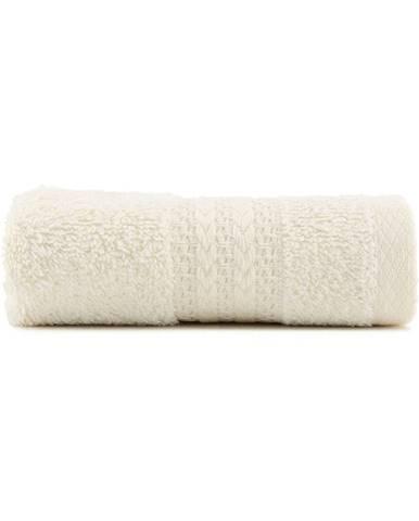 Krémovobiely bavlnený uterák Amy, 30×50 cm