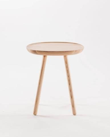 Prírodný odkladací stolík z masívu EMKO Naïve, ø45cm