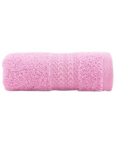 Ružový uterák z čistej bavlny Sunny, 30 × 50 cm