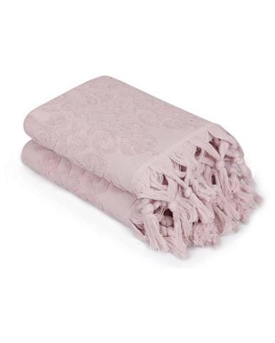 Sada 2 púdrovoružových uterákov Madame Coco Bohème, 50×90cm