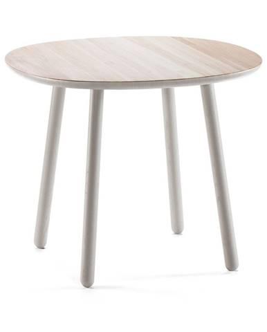 Sivý jedálenský stôl z masívu EMKO Naïve, ⌀ 90 cm