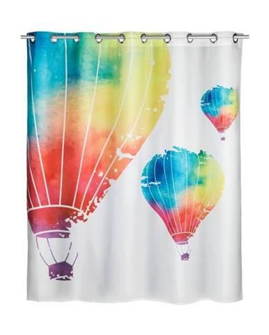 Sprchový záves s protiplesňovou povrchovou úpravou Wenko Baloons, 180×200 cm