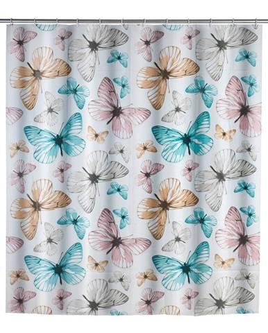Sprchový záves Wenko Butterfly, 180×200 cm