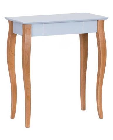 Svetlosivý písací stôl Ragaba Lillo,dĺžka65cm