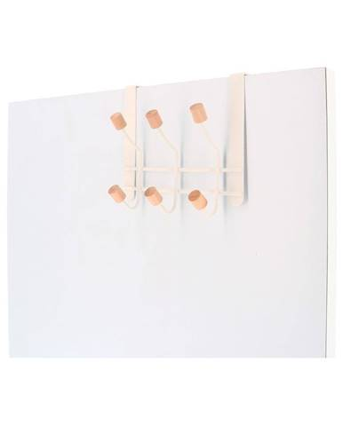 Závesný vešiak na dvere z kovu so 6 háčikmi Compactor