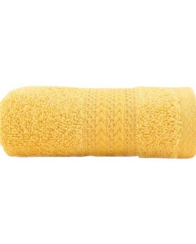 Žltý uterák z čistej bavlny Sunny, 30 × 50 cm