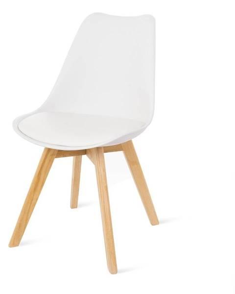 loomi.design Súprava 2 bielych stoličiek s bukovými nohami loomi.design Retro