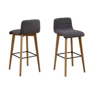 Sada 2 sivých barových stoličiek Actona Arosa