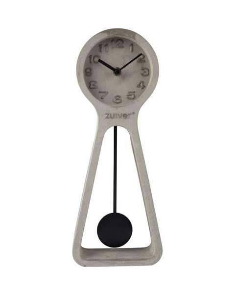 Zuiver Sivé betónové stolové hodiny Zuiver Pendulum