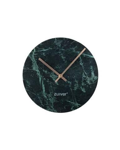 Zelené nástenné mramorové hodiny Zuiver Marble Time