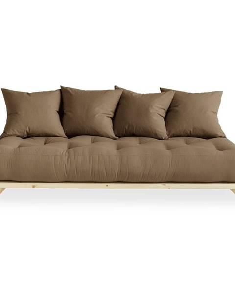 Karup Design Pohovka s hnedým poťahom Karup Design Senza Natural/Mocca