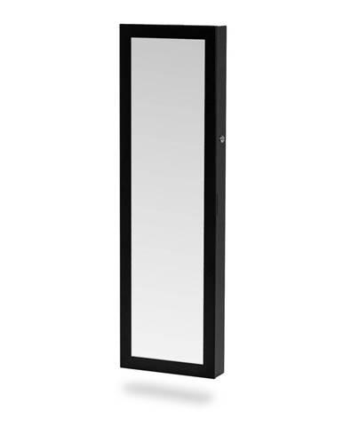 Čierna závesná šperkovnica so zrkadlom Chez Ro Bien
