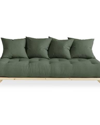 Pohovka so zeleným poťahom Karup Design Senza Natural/Olive Green