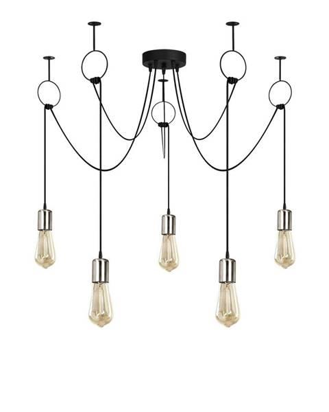 Opviq lights Čierne závesné svietidlo pre 5 žiaroviek Opviq lights Sirin
