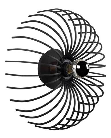 Čierne nástenné svietidlo Opviq lights Aspendos, ø 36 cm
