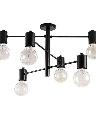 Čierne stropné svietidlo pre 6 žiaroviek Opviq lights Hexa