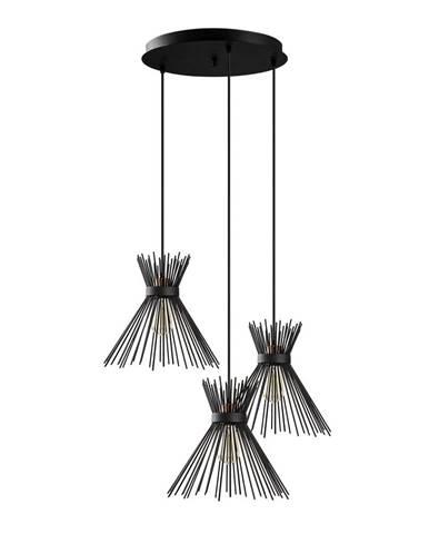 Čierne závesné svietidlo Opviq lights Kirpi