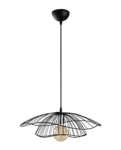 Čierne závesné svietidlo Opviq lights Tel, ø50cm