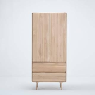 Šatníková skriňa z masívneho dubového dreva s 2 zásuvkami Gazzda Fawn