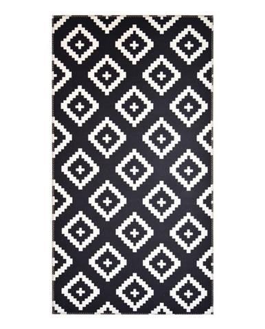 Čierno-biely koberec Vitaus Geo Winston, 50×80cm