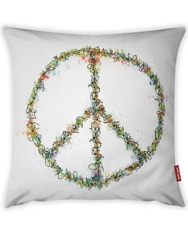 Obliečka na vankúš Vitaus Peace Sign, 43×43 cm