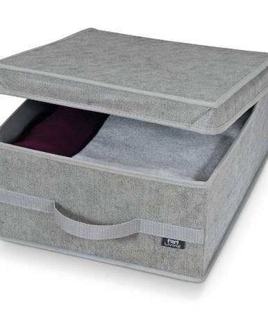 Sivý úložný box Domopak Stone Medium, 45 x 35 cm