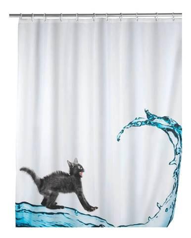 Sprchový záves Wenko Black Cat, 180 x 200 cm