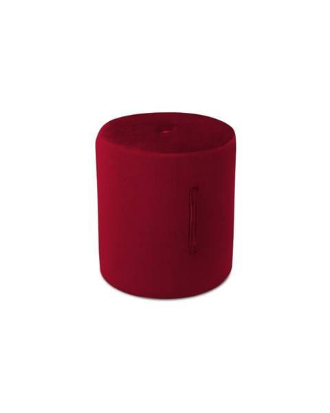 Mazzini Sofas Červený puf Mazzini Sofas Fiore, ⌀ 40 cm