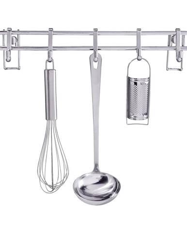 Kuchynský nástenný stojan s 5 háčikmi Wenko Hook Style