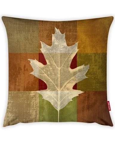 Obliečka na vankúš Vitaus Autumn Parade Leafe, 43×43 cm