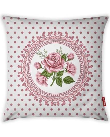 Obliečka na vankúš Vitaus Rustic Vintage Rosa Tres, 43×43 cm