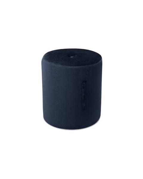 Mazzini Sofas Tmavomodrý puf Mazzini Sofas Fiore, ⌀ 40 cm