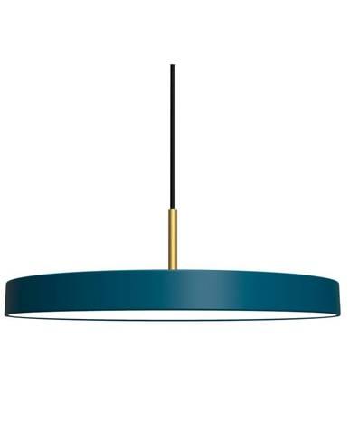 Petrolejovomodré závesné svietidlo UMAGE Asteria, ⌀ 43 cm