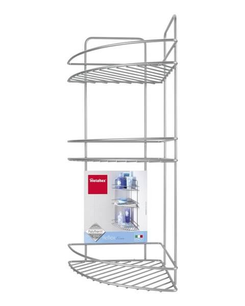Metaltex Nástenná rohová kúpeľňová polička s troma poschodiami Metaltex Ref