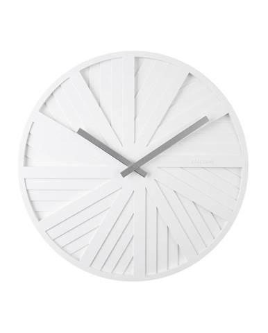 Biele nástenné hodiny Karlsson Slides, ø 40 cm
