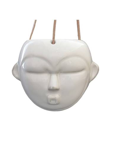 Biely závesný kvetináč PT LIVING Mask, výška15,2cm