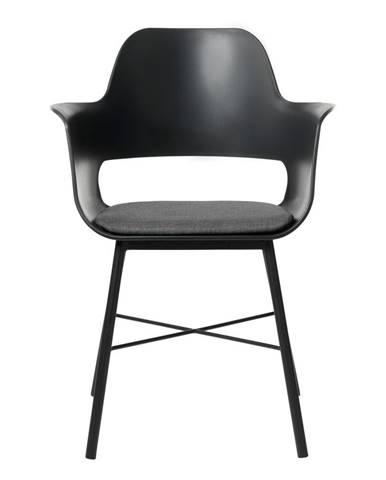 Čierna jedálenská stolička Unique Furniture Wrestler
