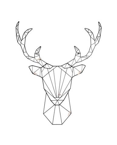 Nástenný vešiak v tvare jeleňa Leitmotiv