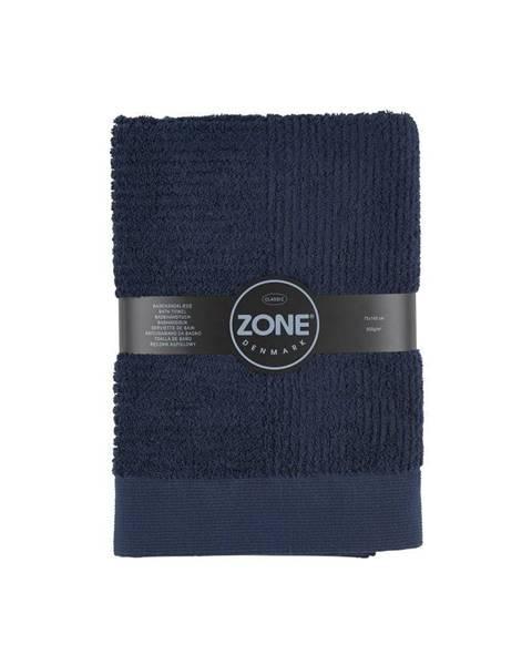 Zone Tmavomodrá osuška Zone Classic, 70x140cm