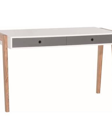 Bielo-sivý pracovný stôl Vox Concept