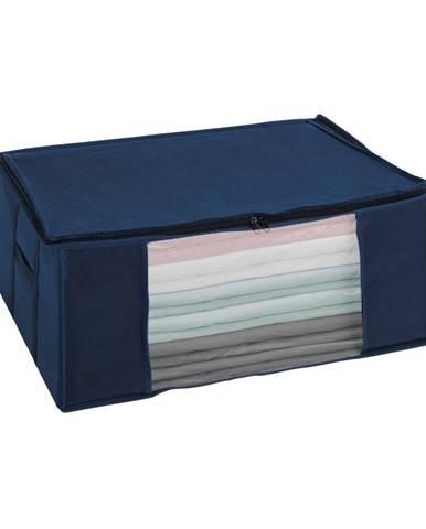 Modrý vákuový úložný box Wenko Air, 50×65×25 cm
