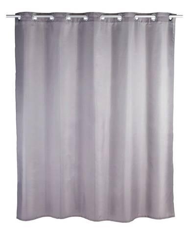 Sivý sprchový záves Wenko Comfort Flex, 180 x 200 cm