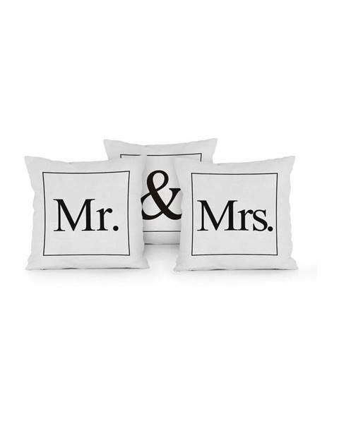 Really Nice Things Sada 3 vankúšov Really Nice Things Mr & Mrs, 45x45cm