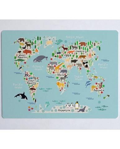 Podložka na stôl Little Nice Things World Map, 55 × 35 cm