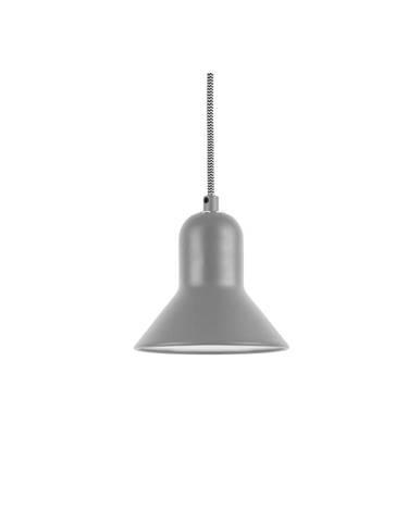 Sivé závesné svietidlo Leitmotiv Slender, výška 14,5 cm