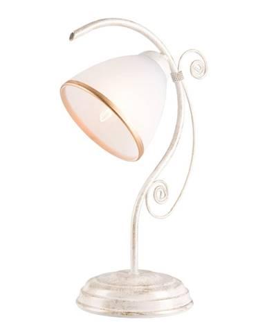Biela stolová lampa Lamkur Retro