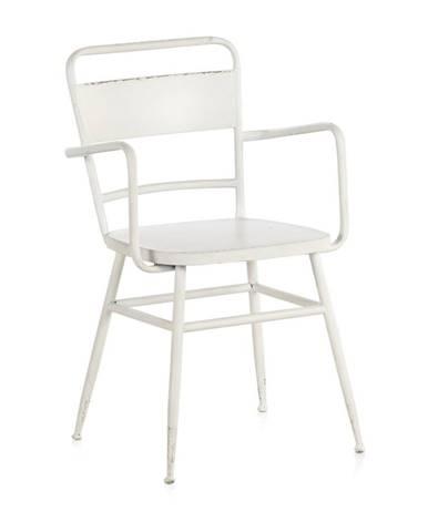 Biele kovové kreslo Geese Industrial Style Derro